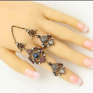 Turkish Ring Set- Sapphire & Ruby
